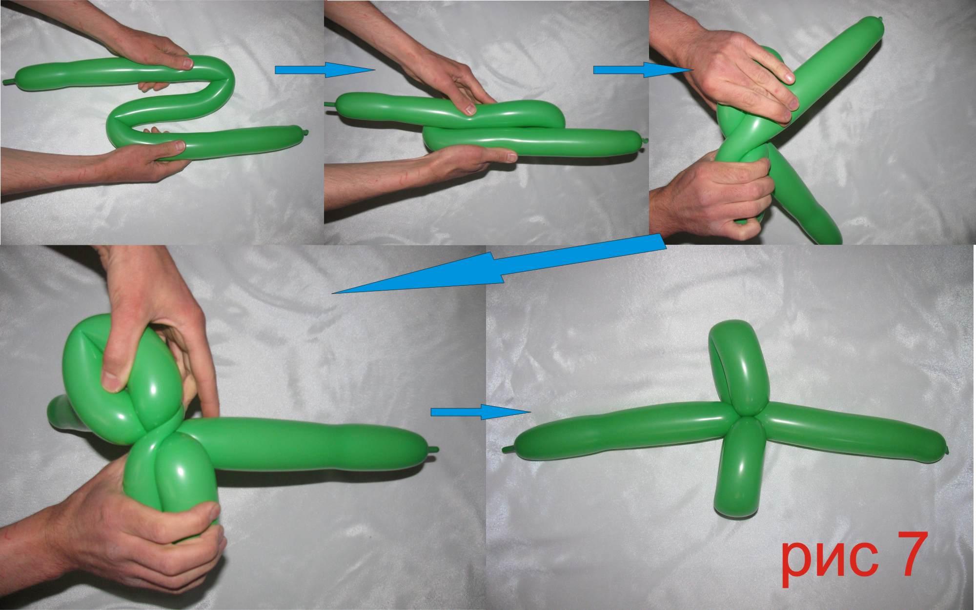 Как сделать из шариков колбасок цветы своими руками